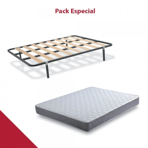 PACK COLCHÓN + SOMIER LOW COST