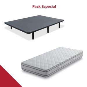 PACK COLCHON VISCOELASTICO + BASE TAPIZADA LOW COST SP ACTIVE