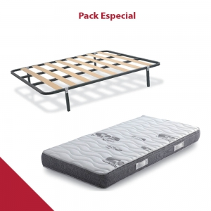 PACK COLCHÓN VISCOELASTICO ROLLER + SOMIER LOW COST